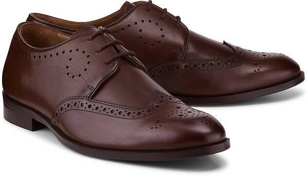 Belmondo, Business-Schnürschuh in dunkelbraun, Business-Schuhe für Herren