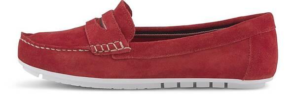 COX, Komfort-Loafer in rot, Slipper für Damen