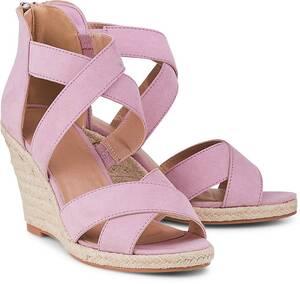 COX, Keil-Sandalette in rosa, Sandalen für Damen