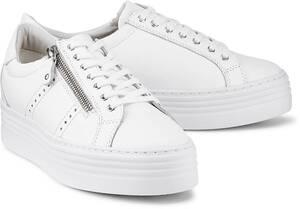 COX, Plateau-Sneaker in weiß, Schnürschuhe für Damen