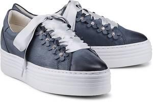 COX, Plateau-Sneaker in dunkelblau, Schnürschuhe für Damen