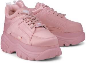 Buffalo London, Platform-Sneaker in rosa, Schnürschuhe für Damen