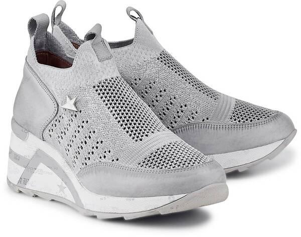 Cetti, Fashion-Sneaker in hellgrau, Sneaker für Damen