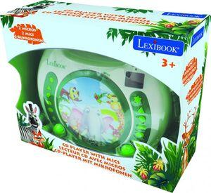 CD-Player - mit 2 Mikrofonen - grün/weiß