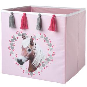 Aufbewahrungsbox mit Pferde-Motiv