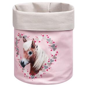 Aufbewahrungskorb mit Pferde-Motiv