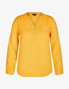 Bexleys woman - Jacquard-Bluse mit Kettenbesatz