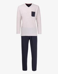 Tom Tailor - langer Pyjama mit V-Ausschnitt