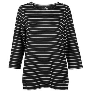 Damen Ringel-Sweatshirt mit Gummizug