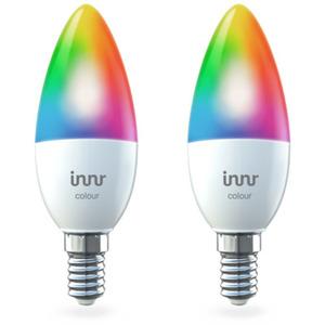 Innr Smart Candle LED E14 (RB 250 C-2) - 2er Pack - Zigbee 3.0, RGBW/CCT, 470 Lumen, App-Steuerung, Philips Hue, Alexa