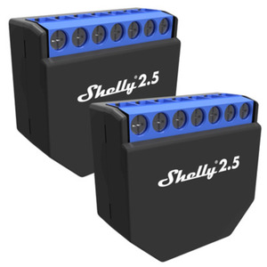 Shelly 2.5 WiFi-Switch mit Messfunktion [2er-Set]