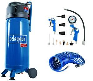Scheppach 50 L Kompressor HC51V inkl. 13 tlg. Zubehörset und 8m Schlauch