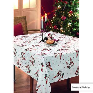 Casa Royale Wachstuch-Tischdecke, ca. 100 x 140 cm - Wichtel Rot/Weiß
