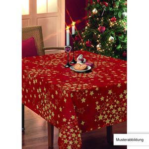 Casa Royale Wachstuch-Tischdecke, ca. 100 x 140 cm - Gold Sterne Rot