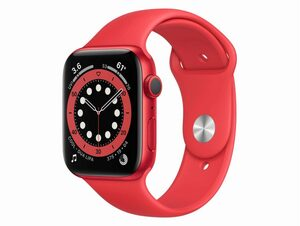 Apple Watch Series 6, 44 mm, Aluminum rot, Sportarmband (PRODUCT)RED rot