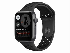 Apple Watch Nike Series 6, 44 mm, Aluminum space grau, Sportarmband anthr/schw.