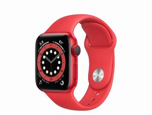 Apple Watch Series 6, Cellular, 40 mm, Aluminum rot, Sportarmband (PRODUCT)RED