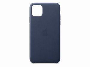 Apple Leder Case, für iPhone 11 Pro Max, mitternachtsblau