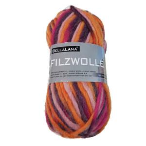 Filzwolle BellaLana orange-flieder-rosa