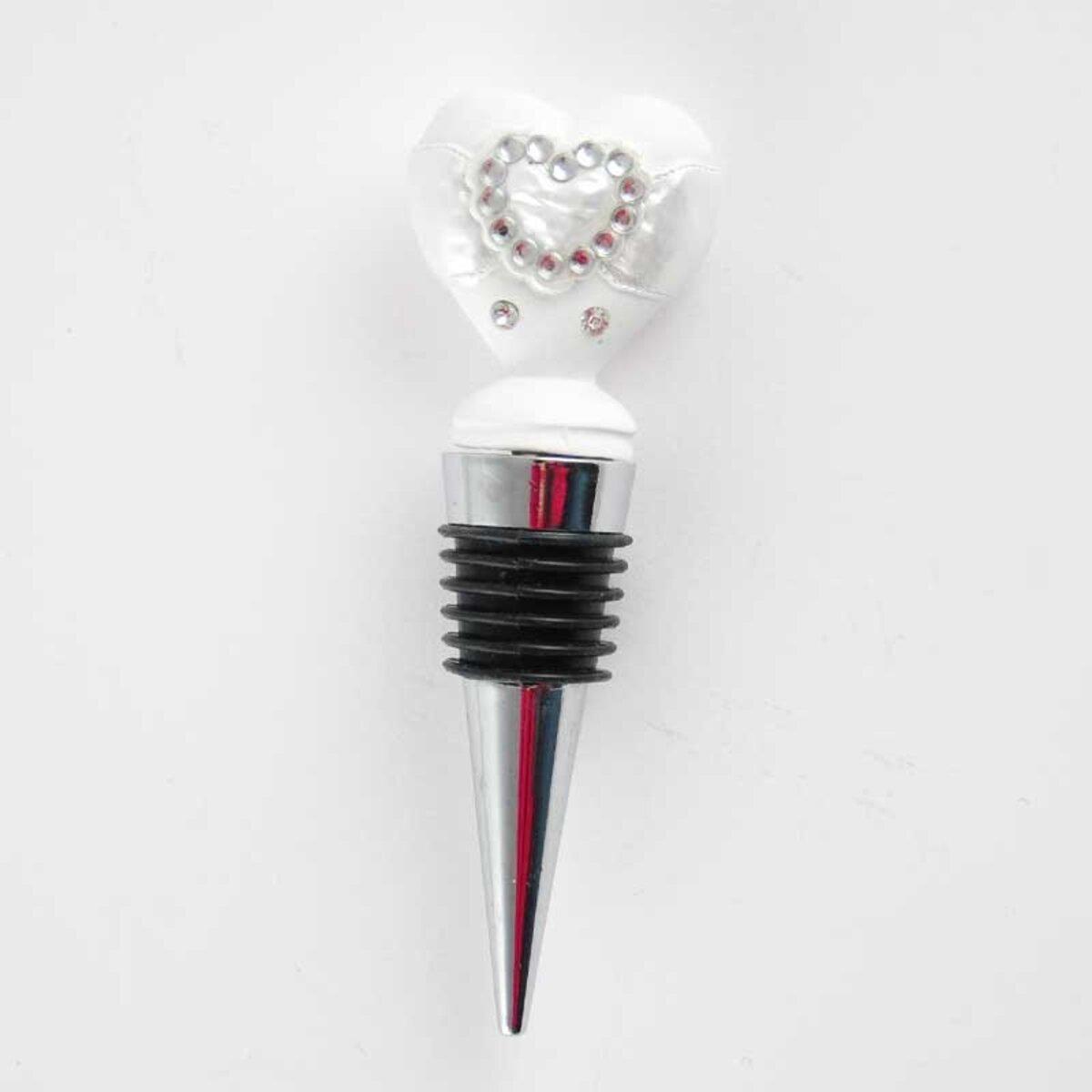 Bild 2 von Flaschenverschluss Heart weiß 10cm
