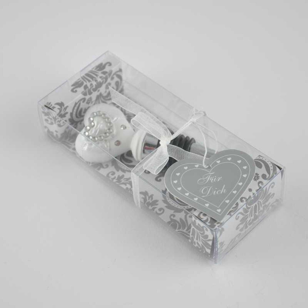 Bild 3 von Flaschenverschluss Heart weiß 10cm