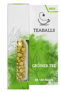 TEABALLS Nachfüllflasche Grüner Tee