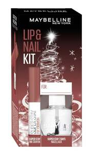 Maybelline New York X-Mas Set Super Stay Ink Crayon Nr. 20 + Super Stay 7 Days Nr. 25 Nagellack