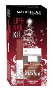 Maybelline New York X-Mas Set Super Stay Ink Crayon Nr. 50 + Super Stay 7 Days Nr. 501 Nagellack