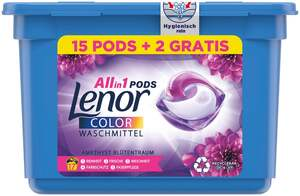 Lenor All-in-1 PODS Waschmittel Amethyst Blütentraum, 17 WL
