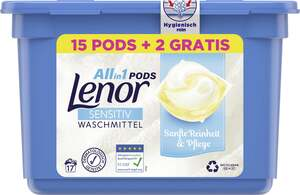 Lenor All-in-1 PODS Sensitiv Waschmittel, 17 WL