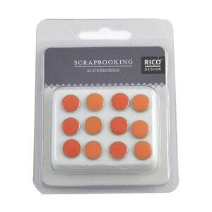 Rico Design Scrapbooking Nieten emailliert orange 12 Stück