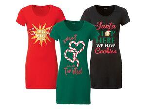 ESMARA® Longshirt Damen, mit Weihnachtsmotiven