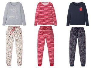 ESMARA® Pyjama Damen, mit Gummizugbund, mit Baumwolle