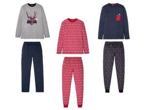 LIVERGY® Pyjama Herren, mit Eingrifftaschen, Gummizug
