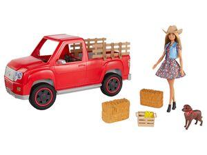 Barbie Spielset »Spaß auf dem Bauernhof«, Fahrzeug mit Puppe und Hund, ab 3 Jahren