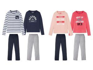 PEPPERTS® Kinder Pyjama Mädchen, 2 Stück, mit Baumwolle