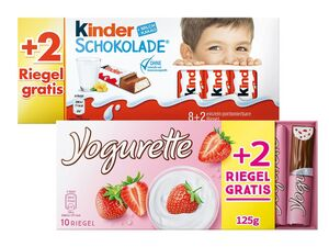 Kinder Schokolade/ Yogurette