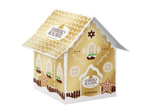 Ferrero Rocher/ Küsschen/Mon Cheri/Giotto/ Die Besten/Raffaello Lebkuchenhäuschen