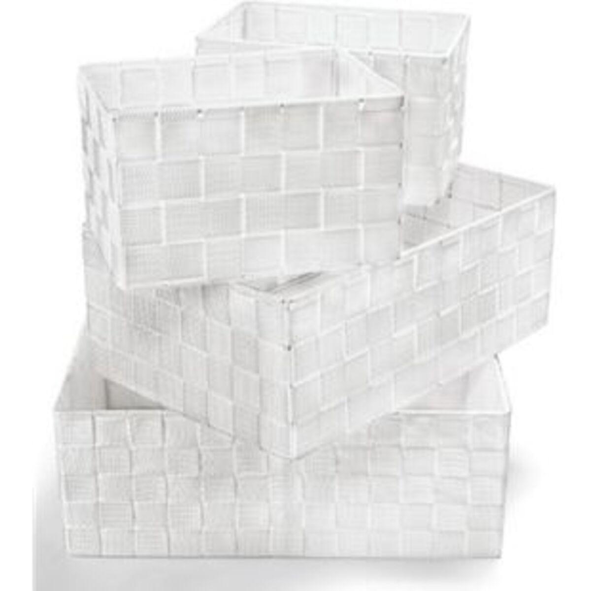 Bild 2 von Dekor Ordnungsboxen 4er Set weiß