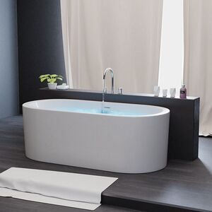 Freistehende Badewanne Acrylwanne Standbadewanne aus Sanitäracryl Piperi