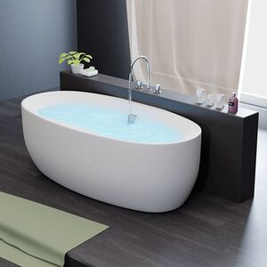 Freistehende Badewanne Acrylwanne Standbadewanne aus Sanitäracryl Dokos