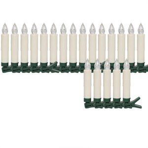 Deuba 20 LED Weihnachtsbaumkerzen Warm-Weiß