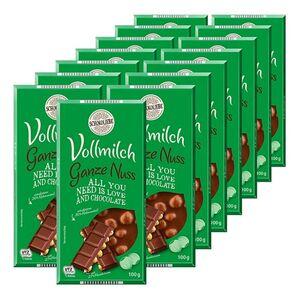 Schokoliebe Vollnuss Tafelschokolade 100 g, 15er Pack