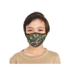 Mund-Nasen-Masen Kids 2er-Set Camouflage/Tec blau/grün