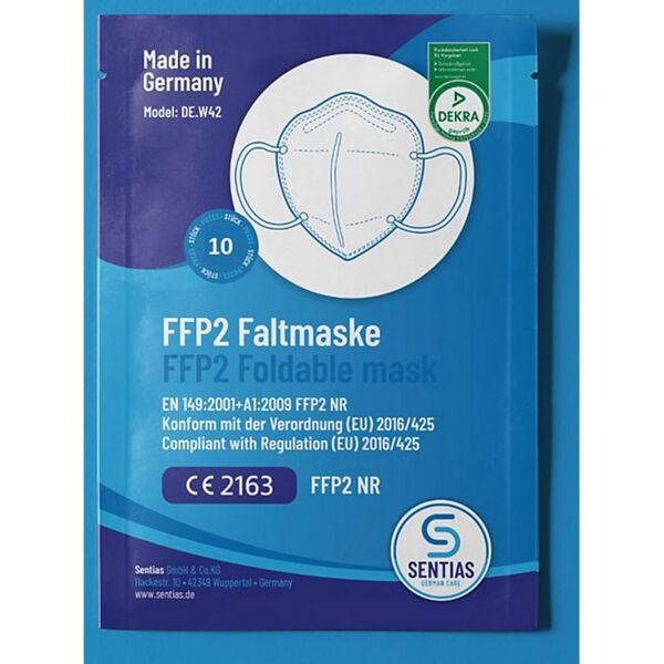 Mund-Nasen-Masken FFP2 10er-Set Made in Germany