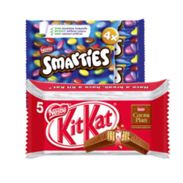KitKat, Lion, Smarties Multipacks