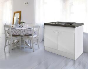 Miniküche in Weiss inkl. Kochfeld