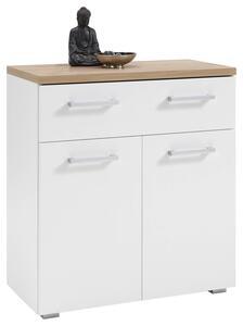 SCHUHSCHRANK Gomera B: 78 cm Weiß