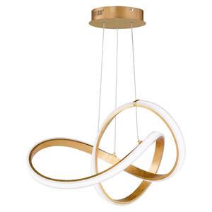 Wofi Led-hängeleuchte , 70047G , Goldfarben , Metall, Kunststoff , 55x150x55 cm , 003131374102