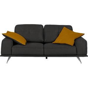 Hom`in Zweisitzer-sofa mikrofaser anthrazit , Orion   -Hom In- , Textil , Uni , 2-Sitzer , 194x86x100 cm , Mikrofaser , Typenauswahl, Stoffauswahl, Rücken echt , 000647006703